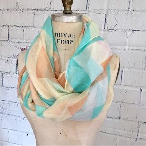 Chevron Print Light Infinity Scarf